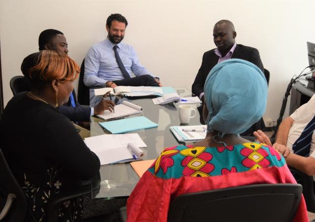 Matthias Savignac rencontre l'équipe du PASS - 08 au 10 Mai 2017 à Abidjan (Côte d'Ivoire)