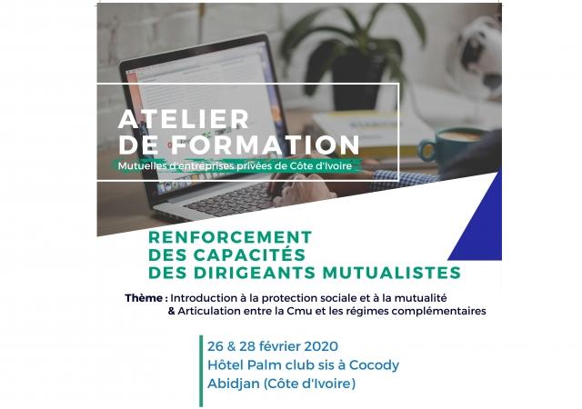 Atelier de renforcement des capacités des dirigeants de mutuelles - 26 au 28 février 2020 à Abidjan (Côte d'Ivoire)