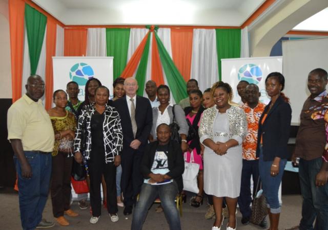Des Journalistes suivent une 1ere étape de formation à la protection sociale et à la couverture santé le 26 Juillet 2016, à Abidjan