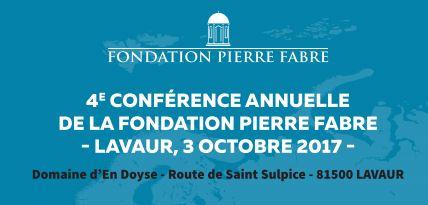 Conférence de la Fondation Pierre Fabre - 03 octobre 2017 à Lavaur (France)