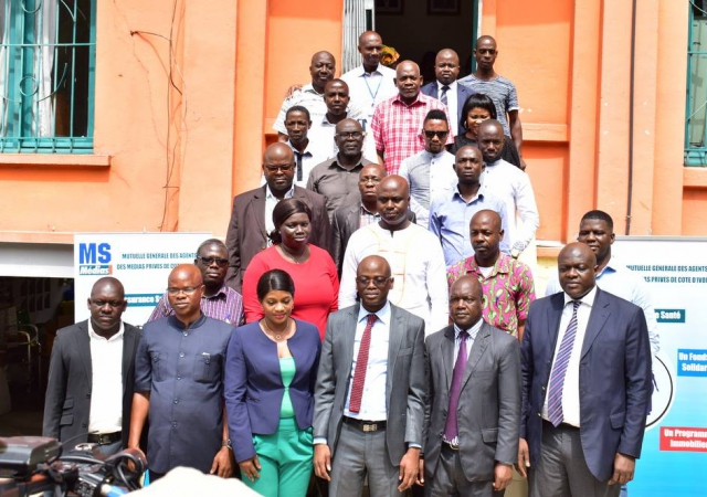 La Mutuelle Sociale des Médias de Côte d'Ivoire désormais opérationnelle - 1er Janvier 2018 à Abidjan (Côte d'Ivoire)