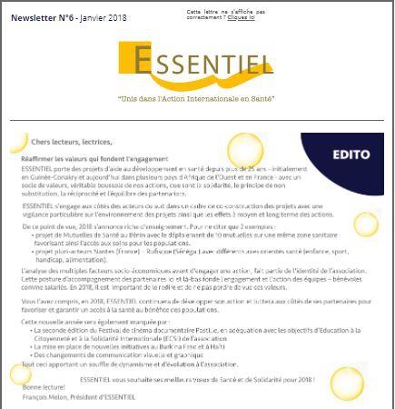 Newsletter Essentiel Janvier 2018