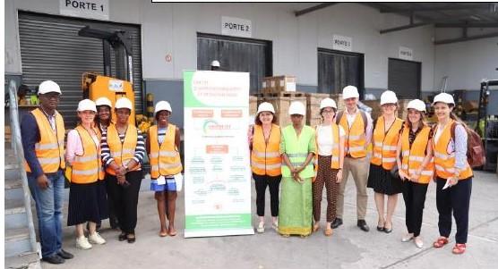 Une mission de Parlementaires français et d'UNITAID à la Nouvelle Pharmacie de la Santé Publique ivoirienne - 05 Juillet 2019 à Abidjan (Côte d'Ivoire)