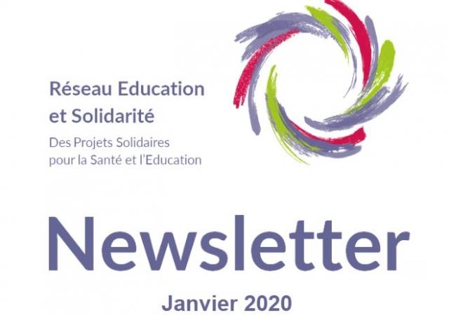 Newsletter Réseau éducation et solidarité - Janvier 2020