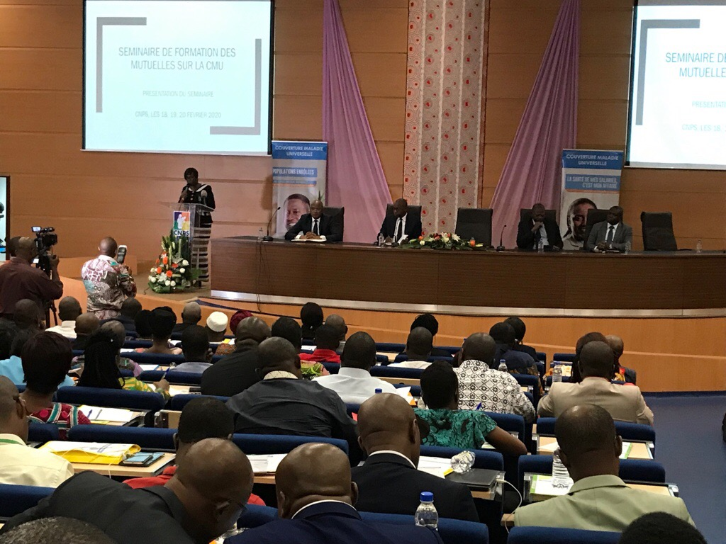 Premier séminaire de formation des mutuelles de santé ivoirienne sur la Cmu - 18 au 20 Février 2020 à Abidjan (Côte d'Ivoire)