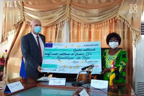 Au Togo, l'Union Européenne apporte un appui de 11,1 milliards FCFA en soutien à la riposte contre le nouveau Coronavirus